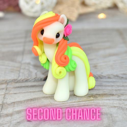 Orange GITD - (Second Chance) - Handmade polymer clay pony