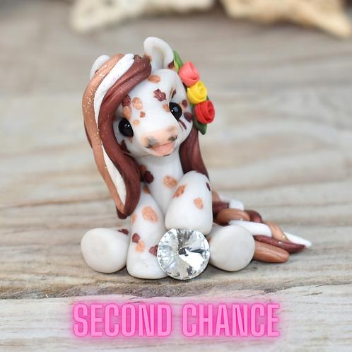 April - (Second Chance) - Handmade polymer clay pony - tiny