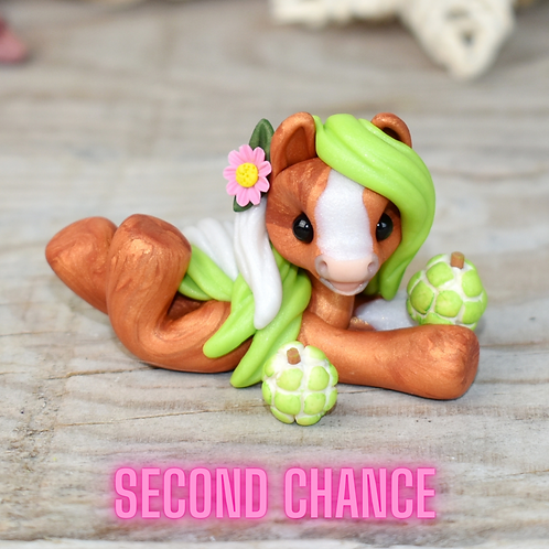 Custard Apple - (Second Chance) - Handmade polymer clay pony - tiny size