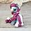 Thumbnail: Mangosteen - (Second Chance) - Handmade polymer clay pony - tiny size