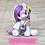 Thumbnail: Amethyst - (Second Chance) - Handmade polymer clay pony - tiny