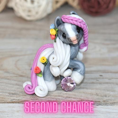 June - (Second Chance) - Handmade polymer clay pony - tiny