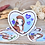 Thumbnail: Caroline  (heart) *  Vinyl Sticker (waterproof)