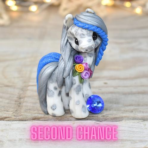 September - (Second Chance) - Handmade polymer clay pony - tiny
