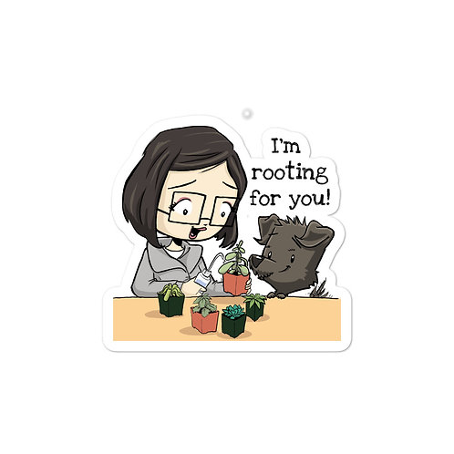 'I'm rooting for you!' Sticker