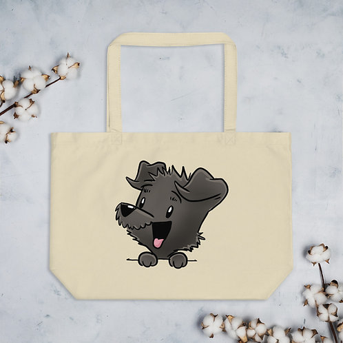 Mellybean 'Pocket Pupper' large organic tote bag