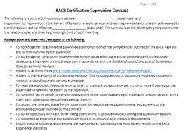 5th ed Supervision Contract