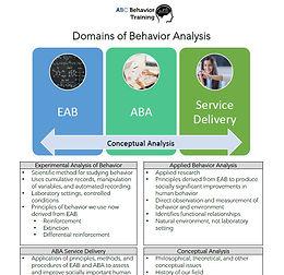 Domains of Behavior Analysis