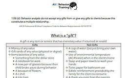 Ethics: What is a gift?