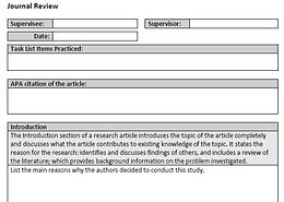 Journal Review Template
