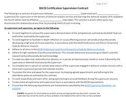 4th ed Supervision Contract