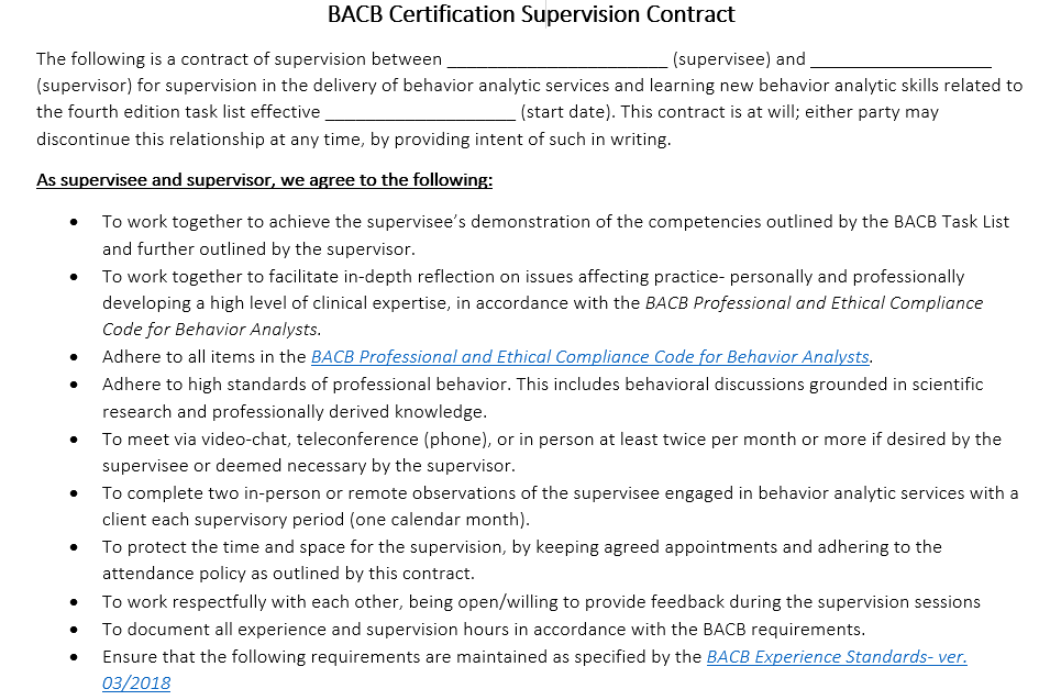 Supervision Package (Monthly System) | abcbehavior