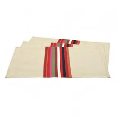"Placemat Mauleon Rouge - size 15""x20"" - 100% Cotton - Artiga"