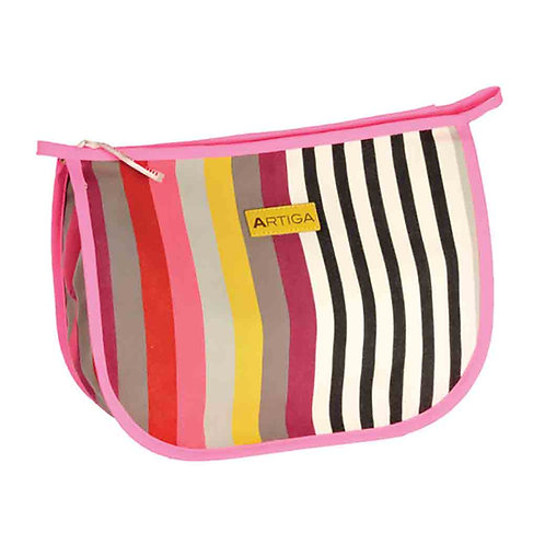 "Artiga Toiletry Bag Larrau - 100% cotton - coated inside - 11""x9""x3.5"""