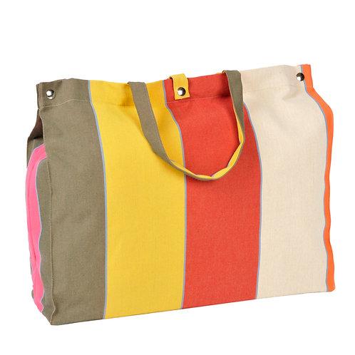 """Artiga Beach Bag Montfort 100% cotton - inside coated - 19.5""""x5.5""""x14"""""""