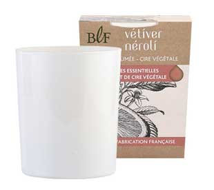 Vetiver Neroli natural wax scented candle