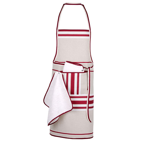 "Apron adjustable Corda Bx Blanc 100% cotton - 30.5""x35.5"" - Artiga"