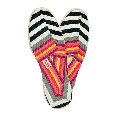 Flat shoe French espadrille hand sewn Larrau by Artiga