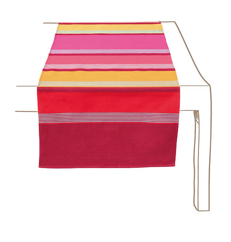 Table Runner Coated Bidos Cassis -Artiga