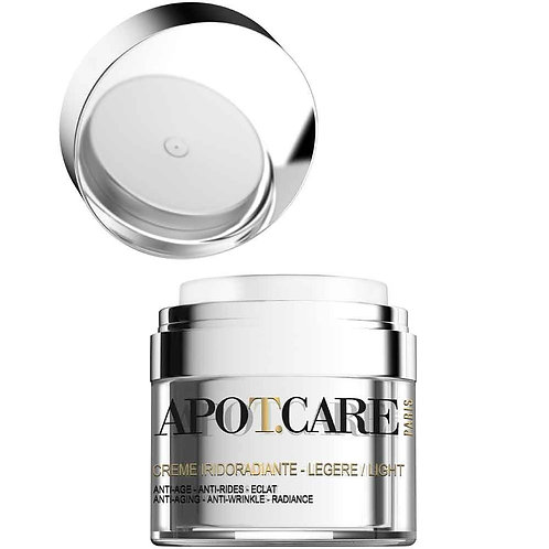 Face and neck light cream iridoradiant 1.7 fl.oz airless  pump jar - APOTCARE