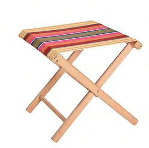 "Folding Stool Tyrosse Jaune (canvas size 20""x16"") -Artiga"