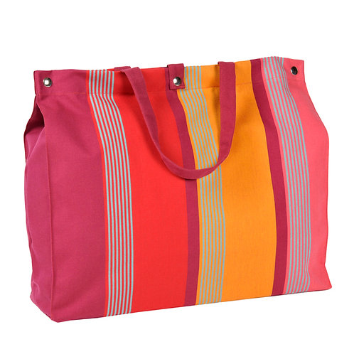 "Artiga Beach Bag Bidos Cassis 100% cotton - inside coated - 19.5""x5.5""x14"""