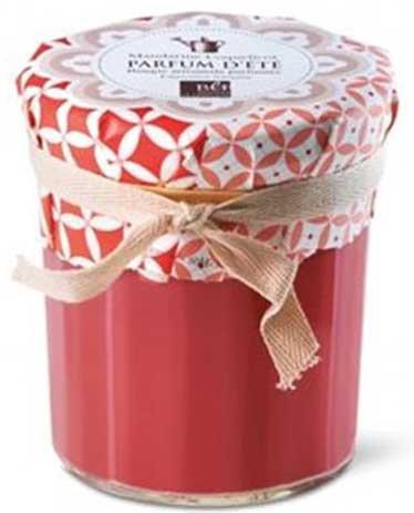 Poppy & Mandarin jam jar scented candle 35H Bougies La Francaise