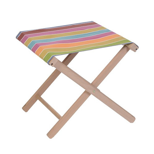 "Folding Stool Adriatique (canvas size 20""x16"") -Artiga"