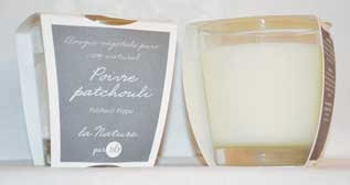 Patchouli Pepper scented candle Bougies La Francaise 100% NATURAL