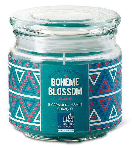 Mandarin, fig leaf, white musk scented candle Glass Jar - Bougies La Francaise