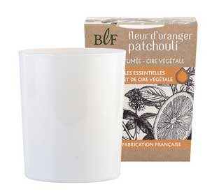 Patchouli Orange Blossom natural wax scented candle