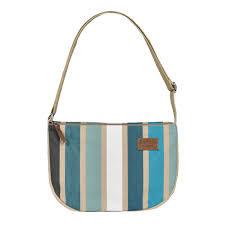 Shoulder Purse with zipper Garlin Bleu - Artiga
