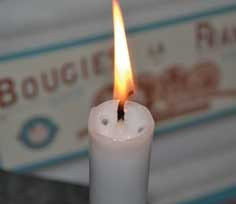 French dripless candles in vintage box by Bougies La Francaise