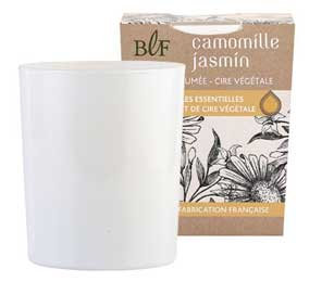 Jasmine Chamomile natural wax scented candle