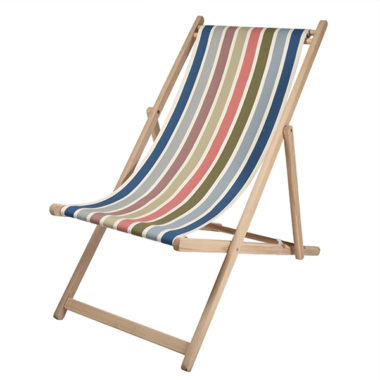 Deck Chair Natural Garlin Corail -Artiga