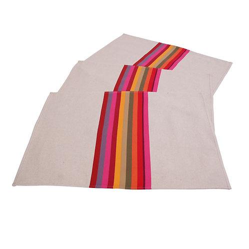 "Placemat Mauleon Fushia - size 15""x20"" - 100% Cotton - Artiga"
