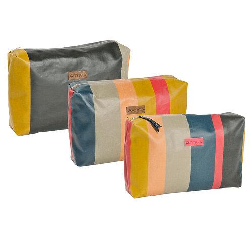 """Artiga Toilet Bag Doumy 100% cotton oilcloth toilet bag - 12""""x8"""""""