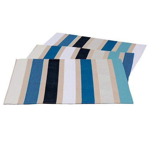 """Placemat Garlin Bleu - size 15""""x20"""" - 100% Cotton - Artiga"""