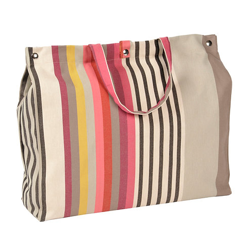 "Artiga Beach Bag Larrau 100% cotton - inside coated - 19.5""x5.5""x14"""