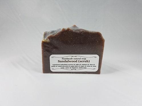 Sandalwood scrub soap