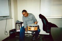 Ignacio at the Yamaha factory with his n