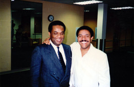 With Freddie Hubbard, June 1987