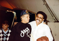 With Buddy Rich, October 1983
