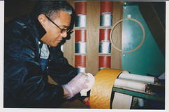 Ignacio at the Yamaha factory,  Japan, w