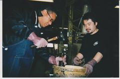 Ignacio at the Yamaha factory, Japan