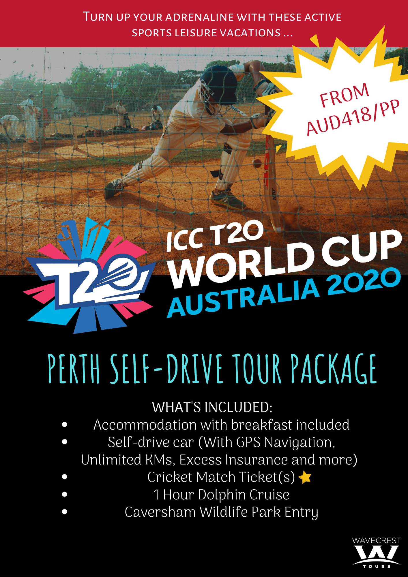 ICCT20 Perth Cricket Tour Package