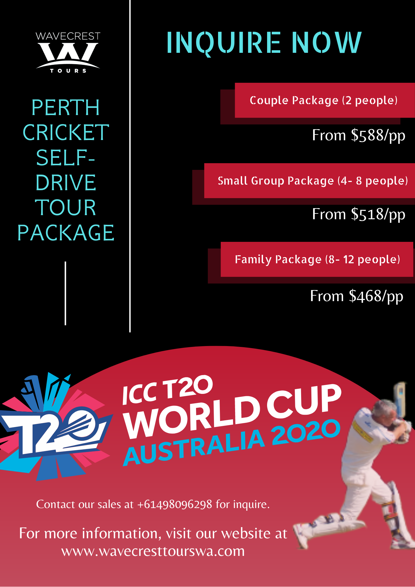 ICCT20 Perth Cricket Tour Package (1)