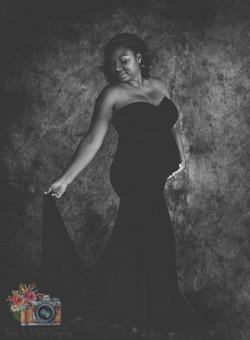 Black Sweetheart Neckline Dress