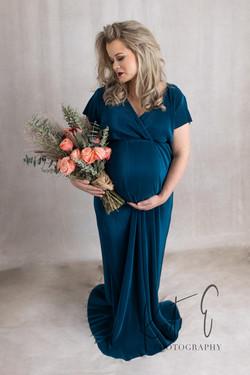 Peacock Blue Velvet Dress