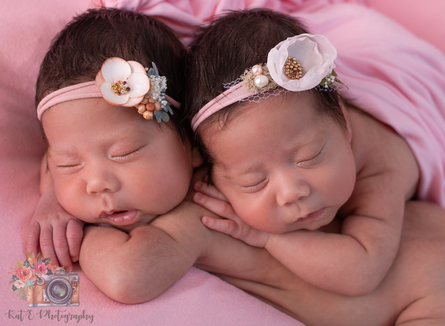 Twin newborn session Cypress, Tx